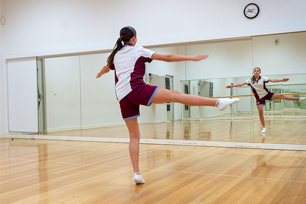 Mary MacKillop Catholic College Wakeley performing dance routine