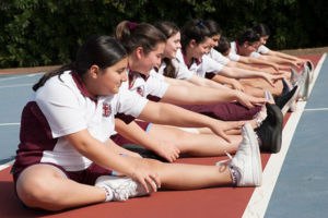 Mary MacKillop Catholic College Wakeley students stretching